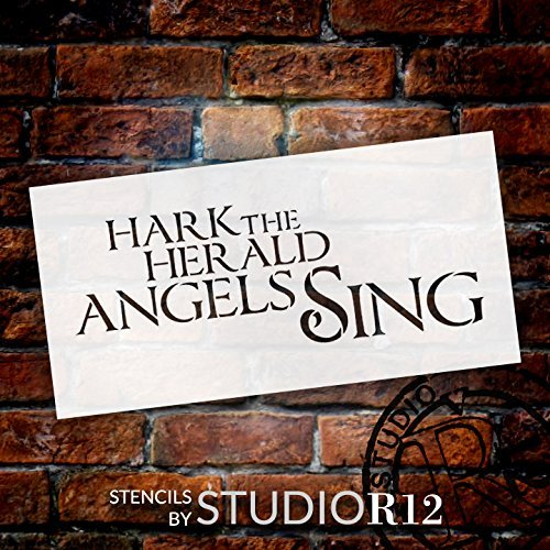 "Hark the Herald Angels Sing - Word Stencil - 16"" x 8"" - STCL1386_3 by StudioR1"