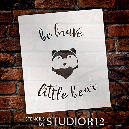 art,   			                 Art Stencil,   			                 Art Stencils,   			                 Baby,   			                 Bear,   			                 Brave,   			                 Child,   			                 Inspiration,   			                 Inspirational Quotes,   			                 Inspiring,   			                 Little one,   			                 Nursery,   			                 Stencils,   			                 Studio R 12,   			                 StudioR12,   			                 StudioR12 Stencil,   			                 Template,