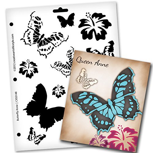 animal,   			                 butterfly,   			                 Country,   			                 Home Decor,   			                 layered stencil,   			                 Mixed Media,   			                 Stencils,   			                 StudioR12,