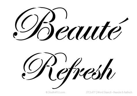 Word Stencil - Beaute & Refresh