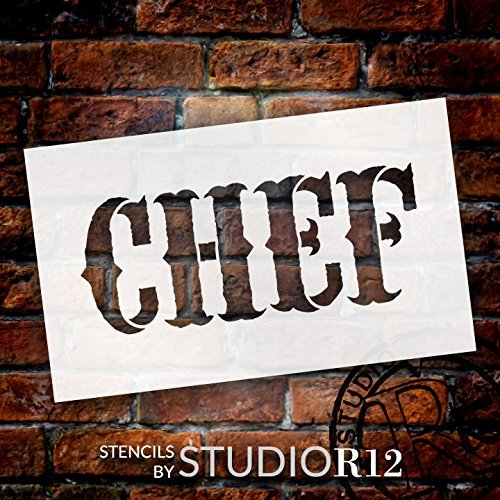 "Chef - Vintage Carnival - Word Stencil - 5"" x 3"" - STCL1337_1 by StudioR12"