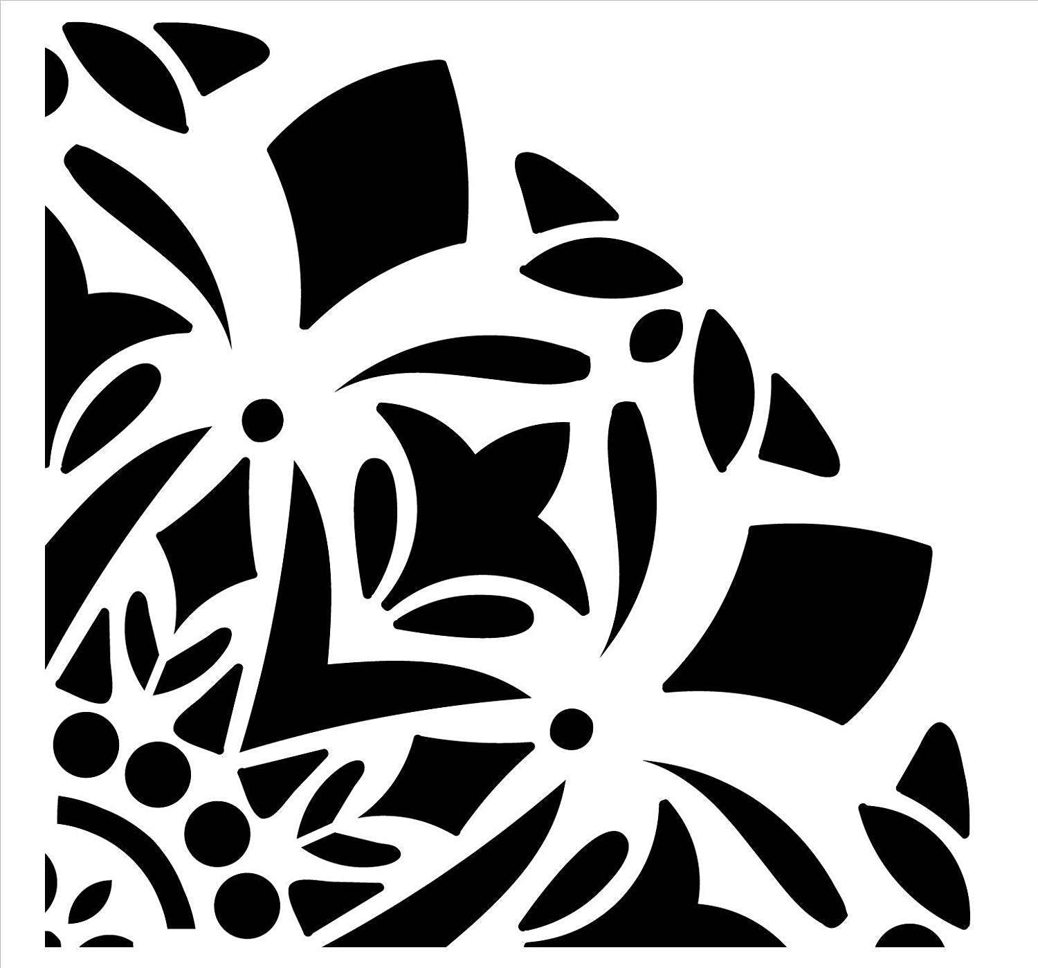 Mandala - Snow - Quarter Design Stencil by StudioR12 | Reusable Mylar Template | Use to Paint Wood Signs - Pallets - Pillows - Wall Art - Floor Tile -