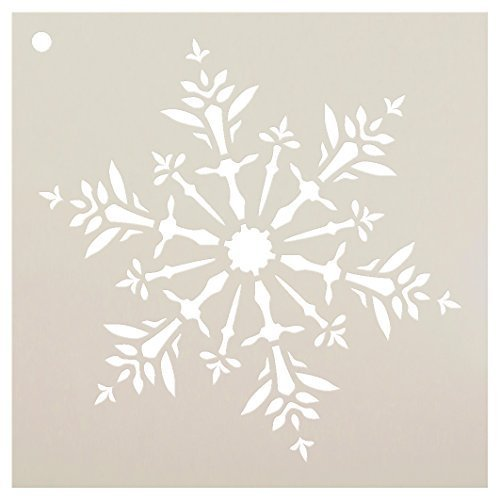 Snowflake Stencil by StudioR12 | Delicate Winter Art - Mini 4 x 4-inch Reusable Mylar Template | Painting, Chalk, Mixed Media | Use for Journaling, DIY Home Decor - STCL952_1