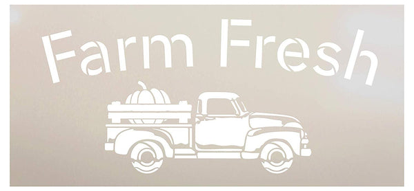 Pumpkin Patch Pick Your Own-Truck Pumpkin Stencil by StudioR12 | Wood Signs | Word Art Reusable | Fall | Painting Chalk Mixed Media Multi-Media | Use for Journaling, DIY Home - Choose Size