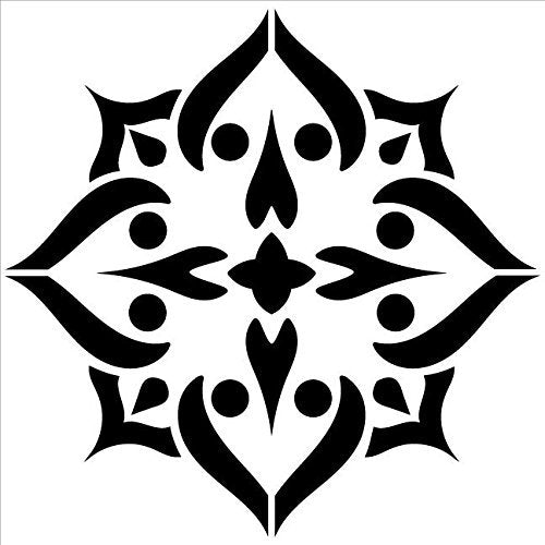 "Mandala - Spades - Complete Stencil by StudioR12 | Reusable Mylar Template | Use to Paint Wood Signs - Pallets - Pillows - Wall Art - Floor Tile - Select Size (15"" x 15"")"