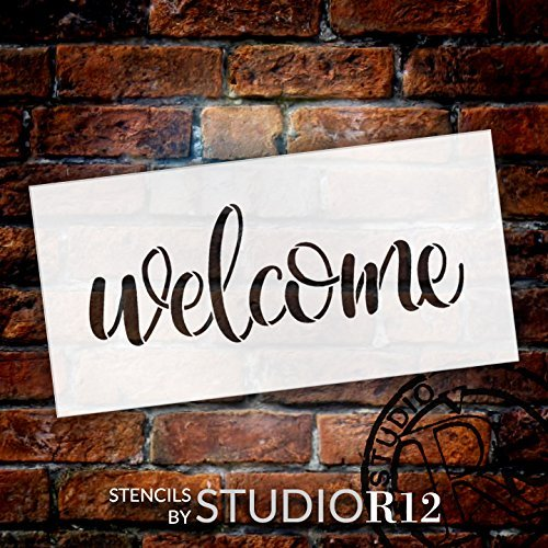 Art Stencil,   			                 Deck,   			                 Patio,   			                 Porch,   			                 Sign,   			                 Stencils,   			                 Studio R 12,   			                 StudioR12,   			                 StudioR12 Stencil,   			                 Template,   			                 Welcome,   			                 Welcome Sign,