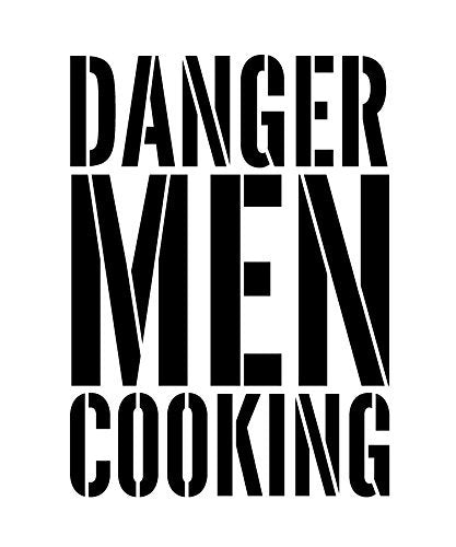 "Danger Men Cooking - Word Stencil - 5"" x 6"" - STCL1320_1 by StudioR12"