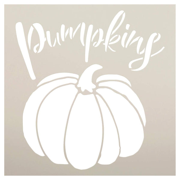 Pumpkins Garden Marker Stencil by StudioR12 | DIY Spring Backyard Outdoor Home Decor | Vegetable Plant Label | Craft & Paint Rustic Wood Signs | Reusable Mylar Template | Select Size