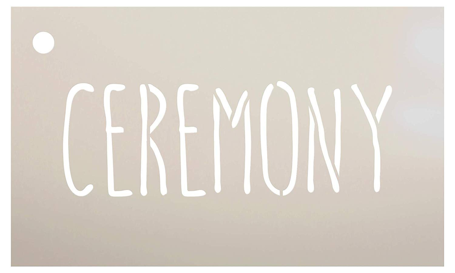Wedding Sign Word - Ceremony - Skinny Hand Stencil by StudioR12 | Reusable Mylar Template | Use to Paint Wood Signs - Pallets - Pillows - DIY Wedding Decor - Select Size