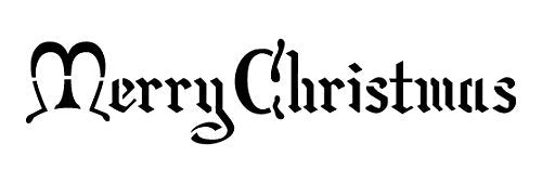 Merry Christmas Stencil by StudioR12 | Noble Holiday Word Art - Mini 9 x 3-inch Reusable Mylar Template | Painting, Chalk, Mixed Media | Use for Journaling, DIY Home Decor - STCL209_1