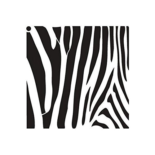 "Zebra Stripes - Pattern Stencil - 6"" x 6"""