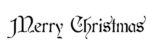 Word Stencil - Merry Christmas - Regal 16 x 4