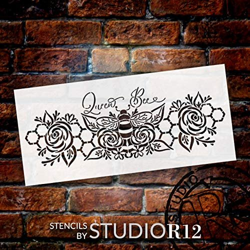 Art Stencils,   			                 bee,   			                 Bohemian,   			                 boho,   			                 busy,   			                 Country,   			                 daisy,   			                 Farmhouse,   			                 flower,   			                 girl,   			                 Home,   			                 Home Decor,   			                 honey,   			                 honey comb,   			                 honeycomb,   			                 laurel,   			                 love,   			                 queen,   			                 rose,   			                 spring,   			                 stencil,   			                 Stencils,   			                 Studio R 12,   			                 StudioR12,   			                 StudioR12 Stencil,   			                 summer,   			                 woman,