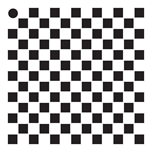 "1/4"" Checks Mini Pattern Stencil - 4"" x 4"""