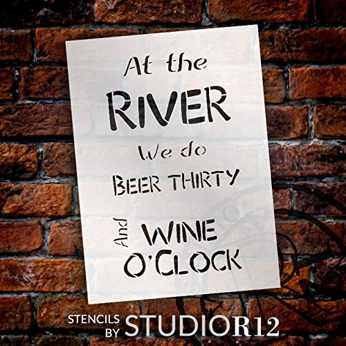 Beer Thirty Wine O'Clock - River - Word Stencil by StudioR12