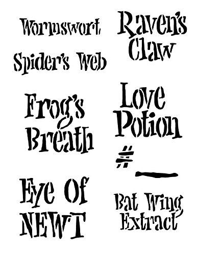 Halloween Fun Potions Labels Stencil