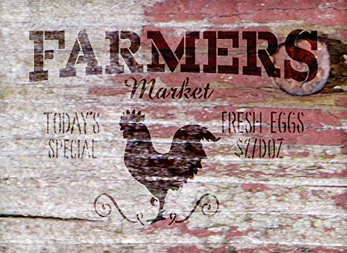 Farmers Market - Today's Special - Fresh Eggs $2/Doz Word Stencil by StudioR12 - Rooster Word Art - STCL2186 - SELECT SIZE (17