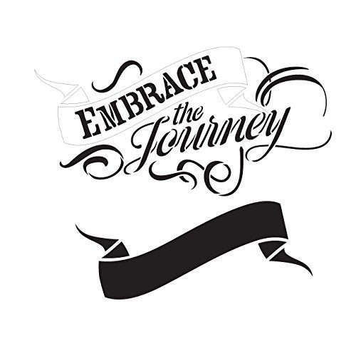 "Embrace the Journey Word Art Stencil 18"" X 18"""