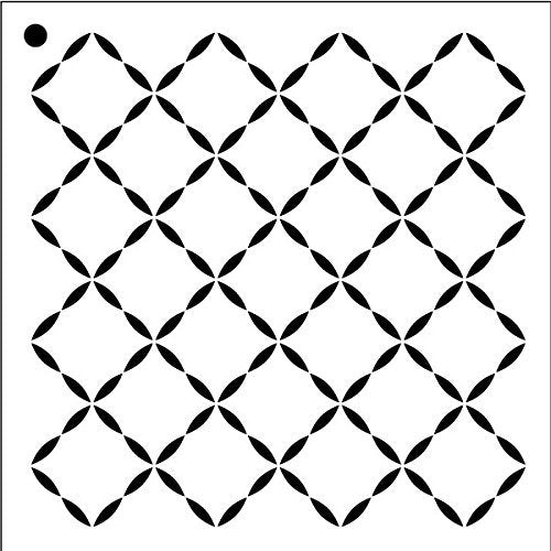 "Quilted Diamond - Repeatable Pattern Stencil - 6"" x 6"""