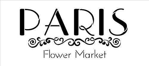 Paris Flower Market Stencil by StudioR12 | Embellished French Word Art - Medium 12 x 5.5-inch Reusable Mylar Template | Painting, Chalk, Mixed Media | Use for Crafting, DIY Home Decor - STCL1299_2