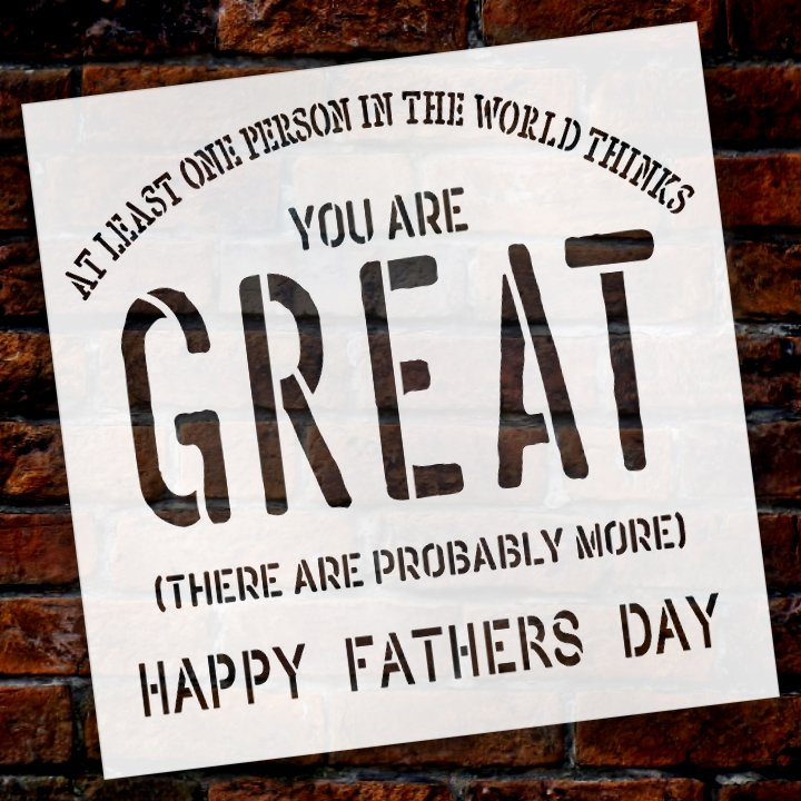 Dad,   			                 Father,   			                 Father's Day,   			                 Stencils,   			                 Studio R 12,   			                 StudioR12,   			                 StudioR12 Stencil,   			                 Template,