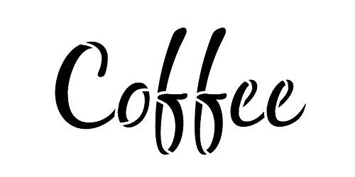 Coffee Stencil by StudioR12 | Casual Script Word Art - Small 8 x 4-inch Reusable Mylar Template | Painting, Chalk, Mixed Media | Use for Journaling, DIY Home Decor - STCL831_2