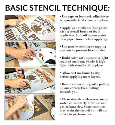 Come in and Stay Awhile Stencil by StudioR12 | Reusable Mylar Template | Use to Paint Wood Signs - Front Porch - Pallets - New Home - DIY Home Welcome Decor - Select Size