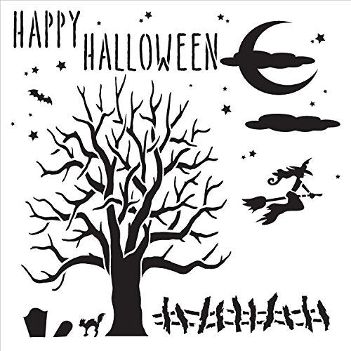 Bats,   			                 halloween,   			                 Hallowen,   			                 Happy Halloween,   			                 Holiday,   			                 Mixed Media,   			                 Multimedia,   			                 Scary,   			                 Spooky,   			                 Stencils,   			                 Studio R 12,   			                 StudioR12,   			                 StudioR12 Stencil,   			                 Template,   			                 trick or treat,   			                 witch,