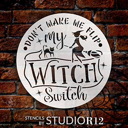 broom,   			                 cat,   			                 diy,   			                 halloween,   			                 large,   			                 stencil,   			                 Stencils,   			                 Studio R 12,   			                 StudioR12,   			                 StudioR12 Stencil,   			                 template,   			                 trick or treat,   			                 witch,