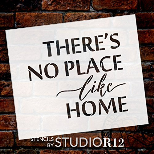 "There's No Place Like Home - Word Stencil - 17"" x 15"" - STCL1884_4 - by StudioR12"