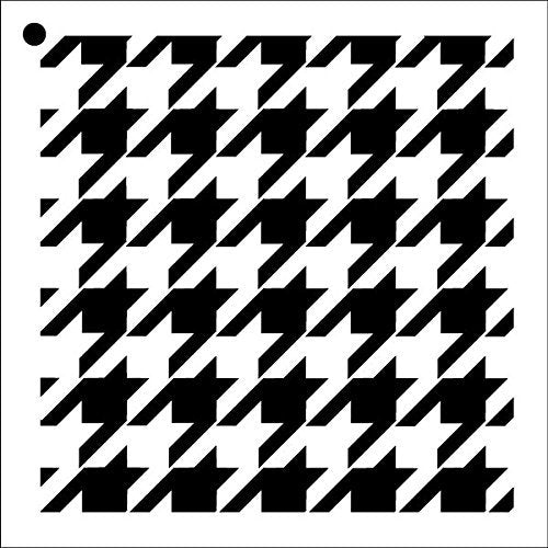 "Houndstooth - Repeatable Pattern Stencil - 9"" x 9"""