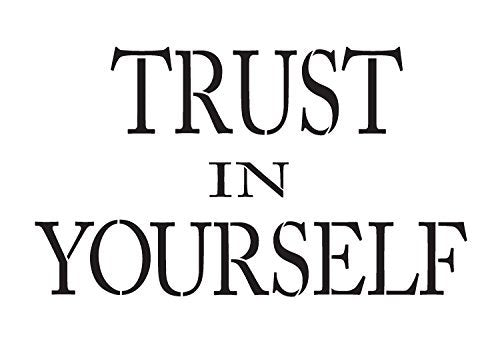"Trust in Yourself - Word Stencil - 11"" x 8"" - STCL1138_1"