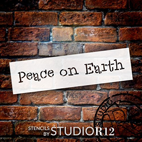 "Peace On Earth - Word Stencil - 20"" x 6"" - STCL1844_5 - by StudioR12"