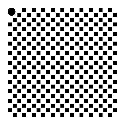 "1/8"" Checks Stencil by StudioR12 