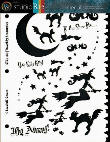 Fall,   			                 Halloween,   			                 Stencils,   			                 Studio R 12,   			                 StudioR12,   			                 StudioR12 Stencil,   			                 Template,   			                 trick or treat,   			                 witch,