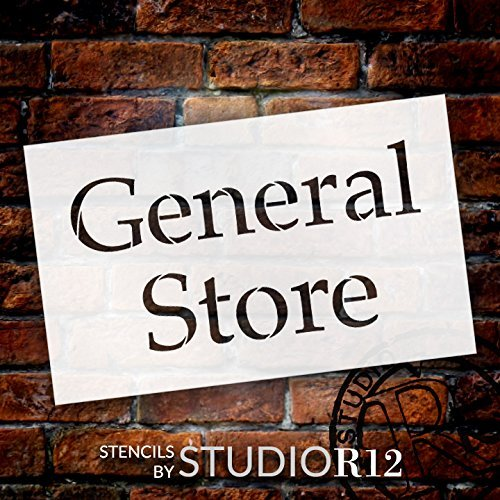 "General Store - Serif - Word Stencil - 16"" x 10"" - STCL2069_2 - by StudioR12"