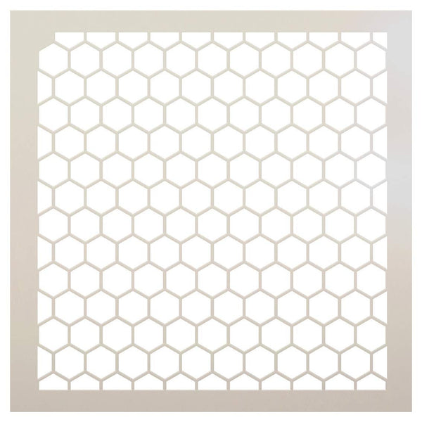 Honeycomb Stencil by StudioR12 | Country Repeating Pattern Stencil | Reusable Mylar Template | Painting, Chalk, Mixed Media | Journaling, DIY Home Decor |SELECT SIZE |  STCL810