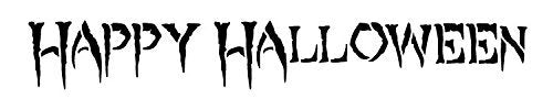"Happy Halloween - Creepy - Word Stencil - 10"" x 2 "" - STCL1290_1 by StudioR12"