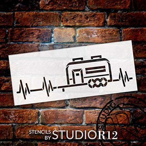 adventure,   			                 Art Stencil,   			                 Camp,   			                 camper,   			                 campfire,   			                 campground,   			                 Camping,   			                 Campsite,   			                 Country,   			                 fifth wheel,   			                 fun,   			                 heartbeat,   			                 Home,   			                 Home Decor,   			                 outdoor,   			                 pull behind,   			                 pulse,   			                 stencil,   			                 Stencils,   			                 Studio R 12,   			                 StudioR12,   			                 StudioR12 Stencil,   			                 travel,   			                 vacation,