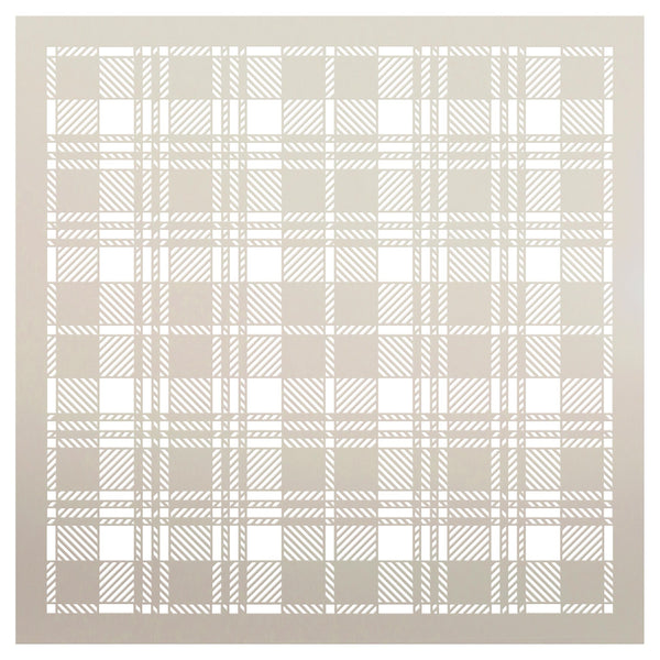 Black Watch Plaid Stencil by StudioR12 | Wood Signs | Word Art Reusable | Painting, Mixed Multi-Media | DIY Home - Choose Size | STCL2858