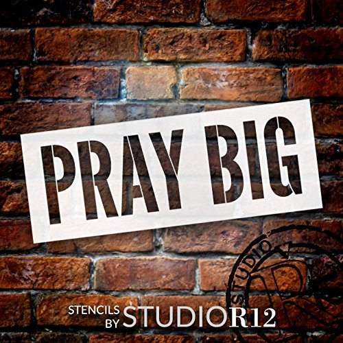 "Pray Big - Word Stencil - 24"" x 9"" - STCL1974_3 - by StudioR12"
