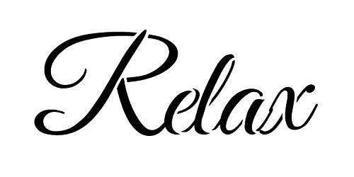 Relax Stencil by StudioR12 | Elegant Script Word Art - Medium 16.5 x 7.5 Reusable Mylar Template | Painting, Chalk, Mixed Media | Use for Crafting, DIY Home Decor - STCL1239_4