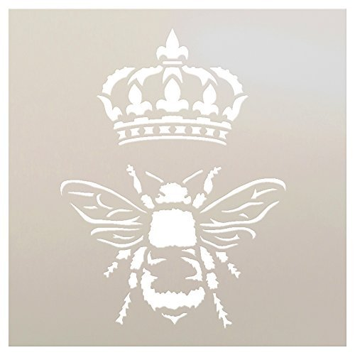 Queen Bee by StudioR12 | Trendy Art Stencil - Reusable Mylar Template | Painting, Chalk, Mixed Media | Use for Crafting, DIY Home Decor  | Multiple Sizes Available | STCL1130