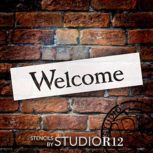 Deck,   			                 Patio,   			                 Porch,   			                 Sign,   			                 Spring,   			                 Stencils,   			                 Studio R 12,   			                 StudioR12,   			                 StudioR12 Stencil,   			                 Summer,   			                 Template,   			                 Welcome,   			                 Welcome Sign,