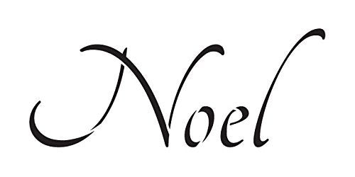 Noel Stencil by StudioR12 | Graceful Skinny Christmas Word Art - Mini 6 x 3-inch Reusable Mylar Template | Painting, Chalk, Mixed Media | Use for Journaling, DIY Home Decor - STCL1391_1