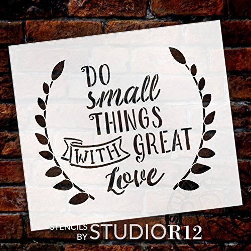 "Do Small Things - Word Art Stencil - 14"" x 12"" - STCL1824_3 - by StudioR12"