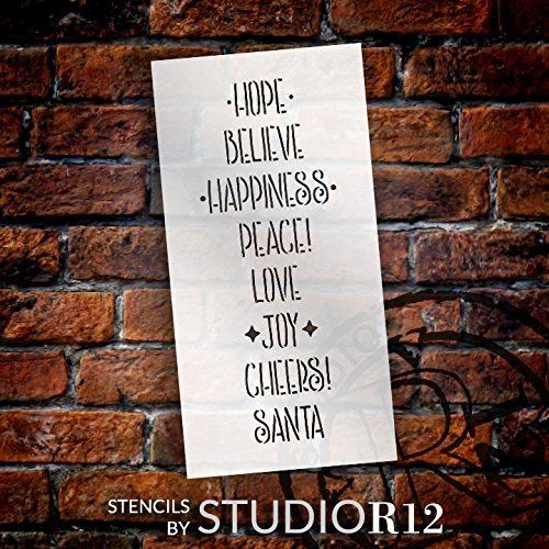Christmas,   			                 Christmas & Winter,   			                 Holiday,   			                 Stencils,   			                 Studio R 12,   			                 StudioR12,   			                 StudioR12 Stencil,   			                 Template,