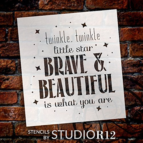 Twinkle Twinkle - Brave & Beautiful - Word Art Stencil by StudioR12