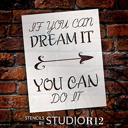 "Dream It - Do - It - Arrow - Word Art Stencil - 11"" x 14"" - STCL2172_1 - by StudioR12"