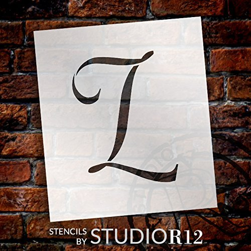 "Graceful Monogram Stencil - L - 5"" - STCL1912_2 - by StudioR12"